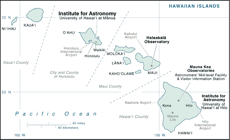 Astronomy  institutions in Hawaii Islands