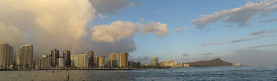 panoramatic view of Honolulu