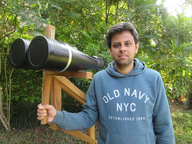 Amar Sharma and his telescopes
