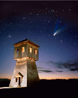 Comet Hale-Bopp taken at  Fort Steele Heritage Town, British Columbia, Canada