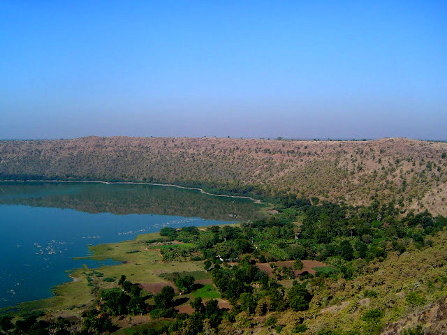 Lonar crater, view form the ground